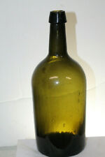 Early Pontiled Demijohn Olive Amber 12 1/2'' tall