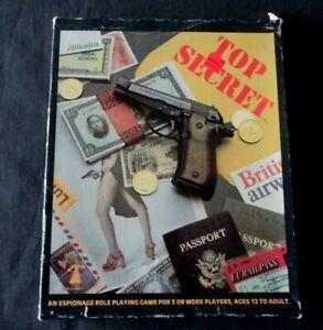 OEJ ~ Top Secret RPG ~ EMPTY BOX ONLY ~ VINTAGE ~ TSR 1980