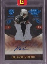 2010 Plates & Patches Rolando McClain Auto 2 Color Prime Jumbo Patch Rc # to 25