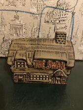 TREMAR CORNISH POTTERY MONEYBOX - THE SWAN INN