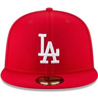 MLB Los Angeles Dodgers RED LA New Era 59Fifty Fitted Hat/Snapback