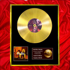 More details for kylie minogue golden cd gold disc vinyl record award display
