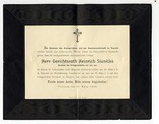 Österreich Bosnien Herzogowina Trauer Brief Anzeige Kreis Gericht Travnik 1906