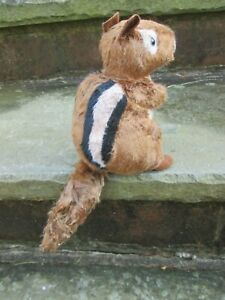 CHIPMUNK CHIPPIE PLUSH TOY NEW COUNTRY PRIMITIVE GRUNGE WOODLAND SQUIRREL BROWN