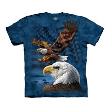 The Mountain USA American Eagle Flag Collage Adult Unisex T-Shirt