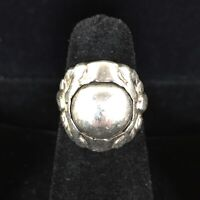 Vintage George Jensen Sterling Silver Ring 11A Denmark Sterling Pearl Ball 4.5