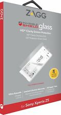 2 x Genuine ZAGG Sony Xperia Z5 InvisibleShield Glass HD Screen Protector Guard