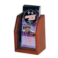 """Wooden Mallet Countertop Brochure Display Mahogany 5.25""""Wx7.5""""Hx4""""D LT-1MH New"""