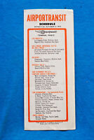 Airportransit Schedule - Los Angeles - 10/5/73