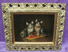 Altes Ölgemälde Katzen um 1910