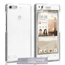 Huawei Ascend G6 resistente al choque Funda Cristal Transparente De Plástico Duro Funda de teléfono del Reino Unido