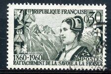 STAMP / TIMBRE FRANCE OBLITERE N° 1246 RATTACHEMENT SAVOIE COMTE DE NICE
