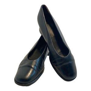 PAUL GREEN Munchen Womens Size 5 AU Leather Court Shoes Pump Round Toe Black
