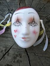 NUOVO Maschera Pierrot in porcellana da appendere 2