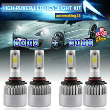 9006+9005 400W 40000LM LED Headlight H Lo Beam Kit For Chevy Silverado 1500 2500