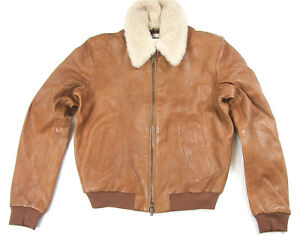 Levis Made Crafted Shearling Italian Leather Bomber Jacket Italy Levi's MSRP$998