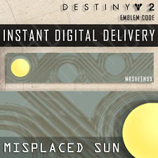 Destiny 2 Misplaced Sun Emblem Code INSTANT DELIVERY [PS4/PS5/Xbox/PC]