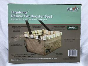 Solvit Deluxe Tagalong Pet Booster Seat, Size: Large FREE SHIPPING.