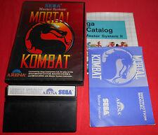 Master System 1 & 2 Mortal Kombat [PAL] Sega *JRF*