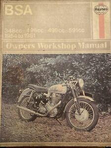 BSA Pre-unit Singles 1954-1961 Workshop Manual Haynes