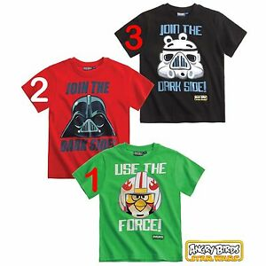 Angry Birds Star Wars coole Jungen T-Shirts in 3 Styles OVP + NEU!
