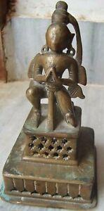 Bronze statue of garuda traditional hindu figurine rare vintage old handcrafted