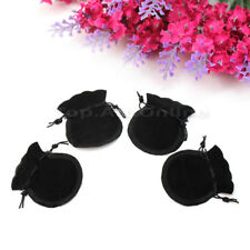 20Pcs Cute Black Packing Velvet Drawstring Jewellery Pouch Bag Storage Gift Hot