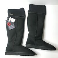 Australia Luxe Collective Women's UK Size 5 Black Sheepskin Suede Long Boots