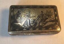 Imperial Russia Niello Sterling 84 Snuff Box Vesta Designer From 1800s