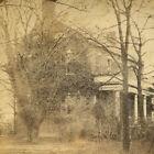 CIVIL WAR ERA STEREOVIEW WITH TAX STAMP. DUNLOP HOUSE, PETERSBURGH, VA.