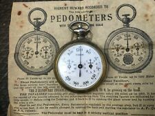Vintage Antique pocket pedometer with instruction sheet