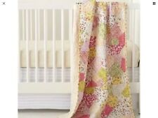 Land of Nod floral Puzzle Patch crib bedding - valance, quilt, crib sheet