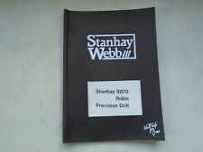 Stanhay Webb Stanhay S870 Robin Precision Drill Parts List