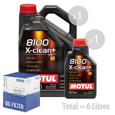 Engine Oil and Filter Service Kit 6 LITRES Motul 8100 X-Clean+ 5W-30 6L