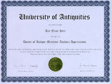 Doctor Antique Maritime Anchor Appreciation Diploma