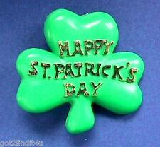 American Greeting Pin St Patrick Vintage Shamrock Happy Irish Holiday Brooch