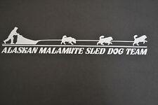 ALASKAN MALAMUTE SLED DOG TEAM STICKER DECAL SLED DOG DOGS MALAMUTES MUSH MUSHER