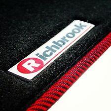 RICHBROOK perfekte Passform Auto Fußmatten für Daihatsu Materia 07 > - Rot & Schwarz Ribb Trim