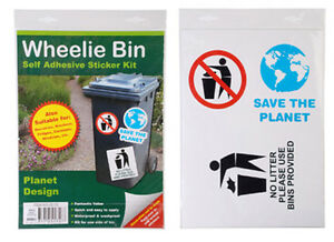 Wheelie/Rubbish Bin Sticker 'Save the planet' NEW