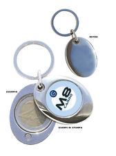 Portachiavi personalizzato con gettone carrello della spesa