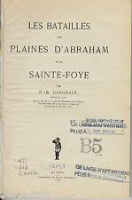 BATAILLES PLAINES D'ABRAHAM SAINTE-FOYE CASGRAIN DAILY TELEGRAPH 1908