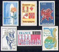 France 1975 Tourism/Flowers/Cattle/Regions 6v (n30968)