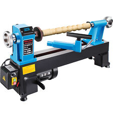 Vevor Wood Lathe 12x18 Digital Readout 550w Benchtop Cast Iron Up To 3800rpms