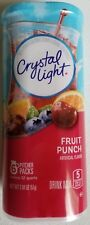 NEW CRYSTAL LIGHT FRUIT PUNCH DRINK MIX 12 QUARTS FREE WORLDWIDE SHIPPING