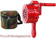 Handsirene 110db + Tasche Alarmanlage Alarmsirene Sirene Luftschutz 550Hz 00258
