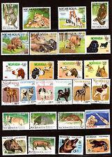 NICARAGUA  Animaux sauvages,chien de chasse et de compl, divers G8