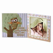 Roman Photo Picture Frame Owl Baby Christian Baptism Dedication Nursery Boy Girl