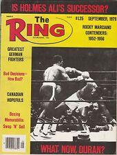 THE RING MAGAZINE MIKE WEAVER-LARRY HOLMES BOXING HOFer COVER SEPTEMBER 1979