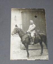 CPA 1919-1925 CARTE PHOTO CAVALIER CONSCRITS MILITARIA SERVICE MILITAIRE