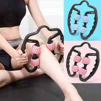 4 Wheels Leg Neck Arm Muscle Relax Roller Massager Yoga Bodybuilding Equipmen MW